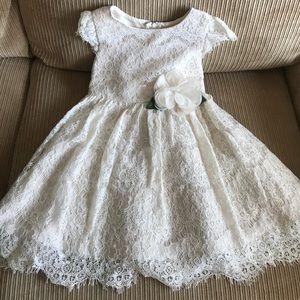 Beige formal lace dress